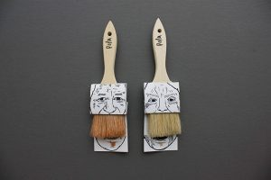 Moustache Paintbrushes